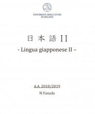 LINGUA GIAPPONESE II  -  MED 2018 - 19